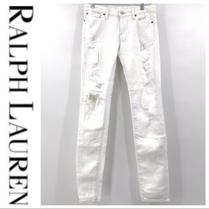 Ralph Lauren Jeans - 💕SALE💕 Ralph Lauren White Skinny Ripped Jeans